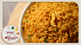 Sode Bhaat  Dry Prawns Rice  Kolambi Pulao in Marathi  Maharashtrian Recipe by Archana