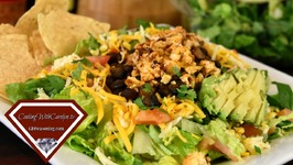 Mexican Roasted Cauliflower And Black Bean Taco Salad Recipe / How To Make Oven Fried Taco Shells