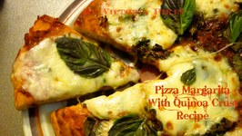 Pizza Margarita With Quinoa Crust Gluten Free