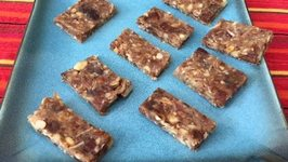 Banana and Dates Burfi Holi Sweets Gluten free Vegan snacks