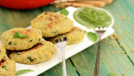Chick Pea and Soya Tikki (Healthy Heart and Low Cholesterol Snack)