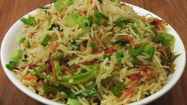 Quick Fried Rice - Indo Chinese Cuisine - Gets ready in 2 mins