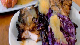Apple Cider Pork Chops with Grilled Purple Cabbage