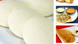 All in One Batter - How to Prepare Idli Dosa Batter Recipe - South Indian Breakfast