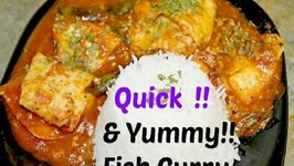 Fish in Garlic Tomato gravy with coconut