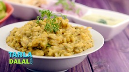 Spicy Green Moong Dal Khichdi