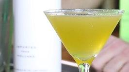 Honeydew Ginger Martini -St. Patrick's Day