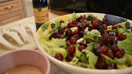 How to Make Romaine Salad with Roasted Beets and Grapes