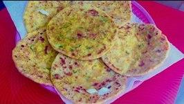 Stuffed Mix Vegetable Paratha Bread
