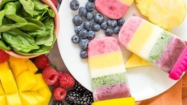 Rainbow Yogurt Popsicles - Healthy Snacks For Kids