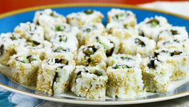 California Sushi Roll with Avocado, Crab Meat and Cucumber