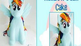 Rainbow Dash My Little Pony Cake - How to Make