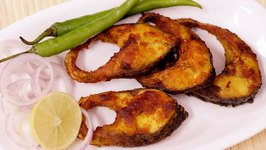 Simple and Easy Fish Fry Rohu Fish Fry Bengali Style Rui Maach Bhaja Bengali Fish Fry
