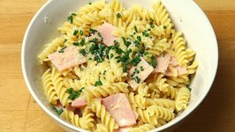 Ham And Egg Pasta