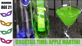 Apple Martini (Appletini) Cocktail  ADULT BEVERAGE