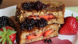 PB And J French Toast With Berry Syrup
