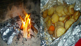 Campfire Baked Potatoes
