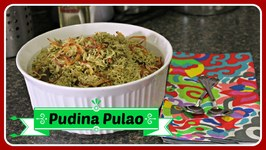 Pudina Pulao / Mint Flavored Rice - Quick Fix Lunch Recipe