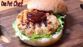 Cheese And Apple Chicken Burgers