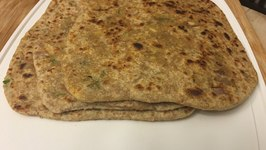 Punjabi Paneer Paratha Stuffed Parantha Indian Flatbread
