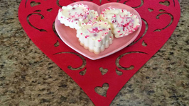 Valentines Day White Chocolate Bark Bites