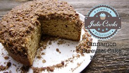Cinnamon Streusel Cake For Two