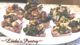 Spinach and Dressing Stuffed Mushrooms