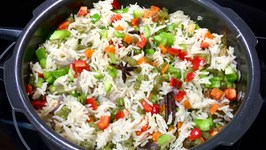 Pressure Cooker Vegetable Pulao Video Veg. Rice