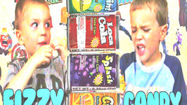 Kids Taste Test Fizzy Soda Candy - Kids Candy Review