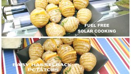 Fuel Free Solar Cooking  GoSun  Baby Hasselback Potatoes