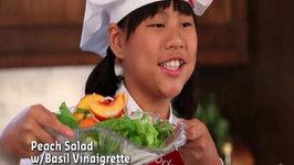 Peach Salad with Basil Vinaigrette