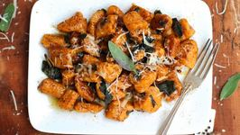 Dinner Recipe Sweet Potato Gnocchi with Browned Butter Sage Sauce