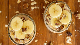 Easy Banana Honey Walnut Overnight Oats