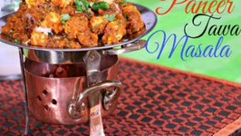 Paneer Tawa Masala - Indian Vegetarian Side Dish