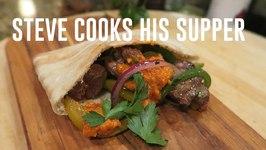Lamb Kebab Pockets With Romesco Sauce