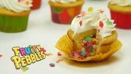 Fruity Pebbles Filled Cupcakes