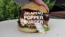 Jalapeno Popper Bacon Burger