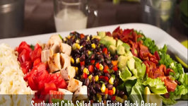 Southwest Cobb Salad with Fiesta Black Beans