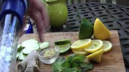 Detox Water fat burning for weight loss with lemons cucumbers and iPerfectKitchen