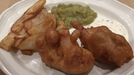 Authentic Fish and Chips with Mushy Peas