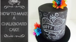 How to Make a Back to School Chalkboard Cake
