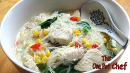 Asian Style Chicken Noodle Soup  One Pot Chef