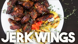 SUPER BOWL perfect JERK Wings - DOUBLE baked