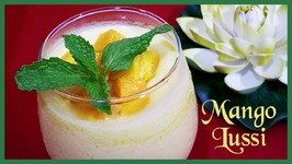 Mango Lassi or Mango Smoothie Sweet Indian Yogurt Mango Drink