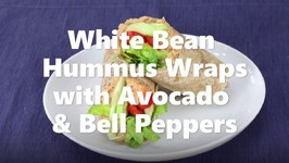 White Bean Hummus Wraps With Avocado And Bell Pepper