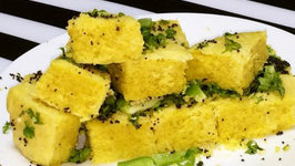 Instant Khaman - Steamed Chickpea Flour Cake/Bread
