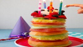 Fruit Tower Birthday Cake - Easy Party Recipe