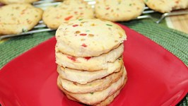 Christmas Shortbread Tutti Fruitti Cookies