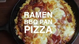 Ramen BBQ Pan Pizza