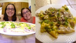 Cooking Show With Victoria And Regina - Grilled Chicken Ravioli With Creamy Mushroom Pesto Sauce